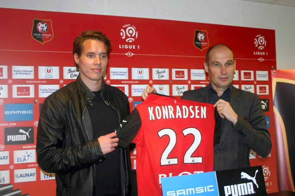 – Jeg er veldig glad for å komme hit og få spille i den franske serien. Rennes er en stor klubb og er anerkjent i Europa, sa Anders Ågnes Konradsen etter signeringen med Rennes.