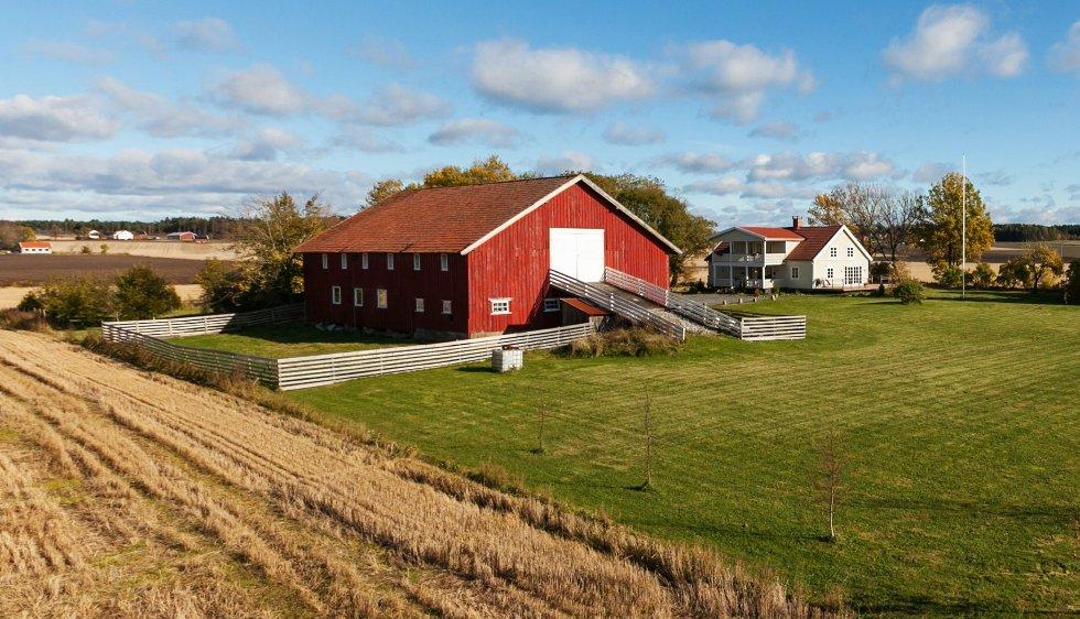 Småbruket Haug Vestre i Råde kommune i Østfold er til salgs for 4,7 millioner kroner. To geiter følger med, om man ønsker det.