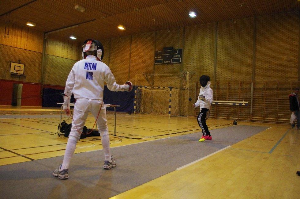 Ludvik Hodt fra Sandefjord duellerer Mathias Ruud Reitan.