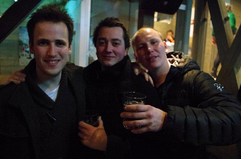 Erlend, Kristian og Mantas har funnet seg godt til rette på Jernet.