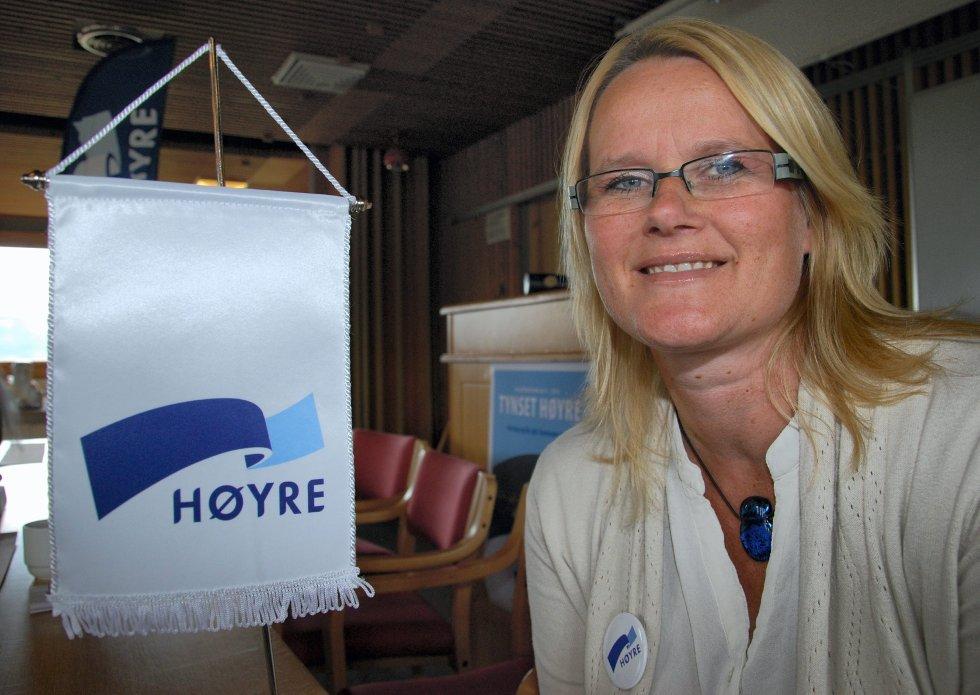 JOBBER: Berit Nordseth Moen i Tynset Høyre understreker at partiet presser på for arkivene. Foto: MALI HAGEN RØE