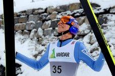 Johann André Forfang kan si seg godt fornøyd med sitt første hopp i verdenscupen i Engelberg. Her fra en tidligere anledning.