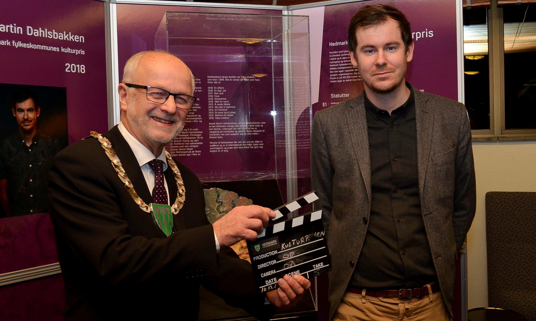 Første filmregissør som hentet hjem prisen