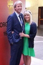 Vi gifta oss i Trondheim tinghus 18. september. Astrid Marie Barrusten og Rune Pedersen