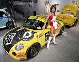 "Daihatsu Motor sin ""Copen"" vises frem på motormessen i Tokyo i Japan."