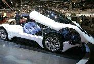En Maserati Birdcage 75th concept-bil vises frem på bilmessen i Geneve, som feirer 75-års jubileum i år. Messen er regnet som verdens viktigste bilmesse.