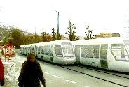 Slik ser Bybanen ut i en infofilm som Bergen kommune har fått laget (2005).