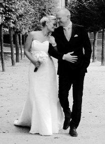 Vi giftet oss 10.10.14 på den norske ambassade i Brussel. Camilla Klovland og Roy Sørbø. FOTO: PRIVAT
