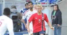 Thomas Grøgaard leverte en solid debut for Norges a-landslag i går. Odd-backen var imidlerti dbare sånn passe fornøyd selv.