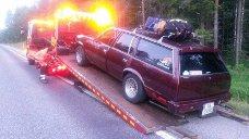 BORTE: Denne bilen er stjålet fra Ørje i løpet av natten.