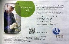 Tirsdag er denne annonsen å finne i avisene på Nordmøre.