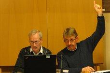 Stemte ja: Ordfører Kåre Helland (t.h.) i en tidligere sak. Arkivfoto.