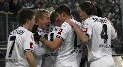 Borussia Mönchengladbach ligger på 2. plass, med bare tre poeng opp til Borussia Dortmund i tysk Bundesliga.
