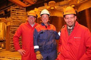 Oljeminister Tord Lien (Frp) på besøk i Sandnessjøen.