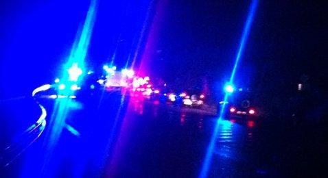 Trafikkulykke i Eikangervåg i Lindås natt til første nyttårsdag (01.01.2012).