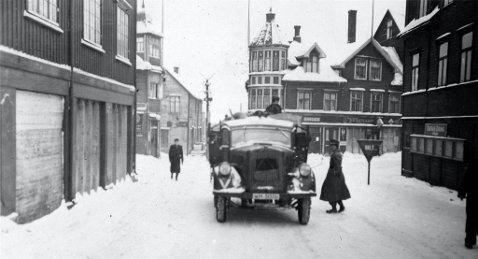 Kirkenes: motiv fra kirkenes sentrum fra vinteren 1942. dette