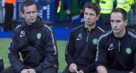 GLEMTE SPILLER: Ronny Deila og Celtic glemte igjen en spiller i Glasgow før møtet mot Maribor. Foto: Jeff Holmes (Ap)