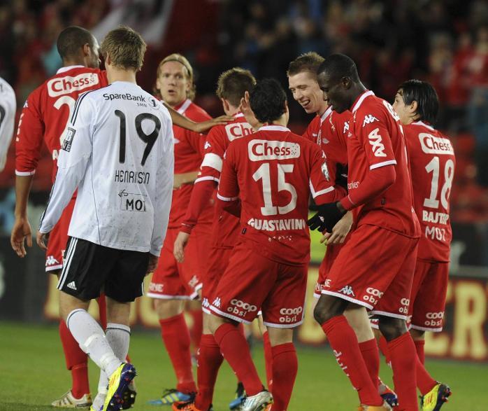 Brann valset over Rosenborg på Lerkendal (30.10.2011).