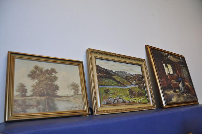 Kunst og kultur. Loppemarked på Slettebakken skole i regi av Ulriken Janitsjar (22.04.2012).