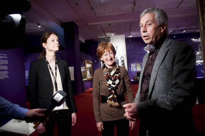 Kunsthistoriker Ingeborg Lønning, prosjektleder Anniken Thue og førstekonservator Trond Indahl.