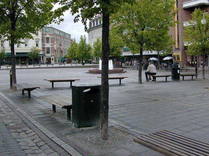 Hønefoss sentrum.