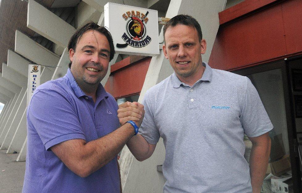SLUTTER: Lars Petter Andersen (til venstre) slutter i Sparta. Han skal dermed ikke lenger jobbe sammen med Tony Malm.