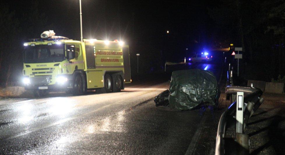 En ung mann døde i en trafikkulykke i Eikangervåg natt til 1. januar 2012.