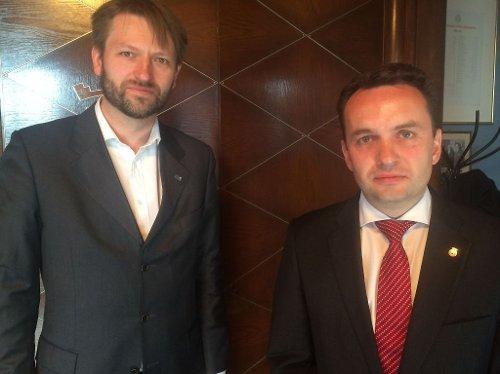 Finansbyråd Eirik Lae Solberg og byrådsleder Stian Berger Røsland