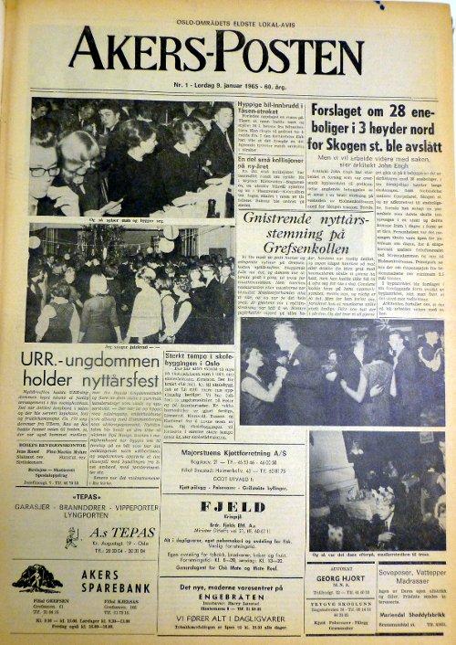 Akersposten 9. januar 1965