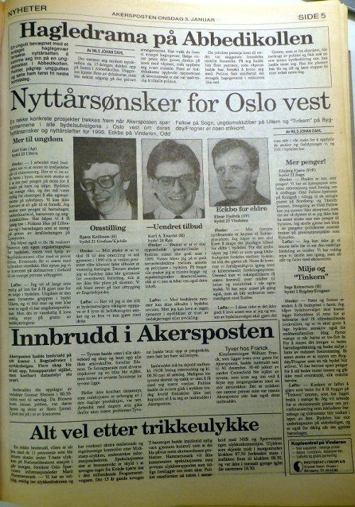 Akersposten 3. januar 1990