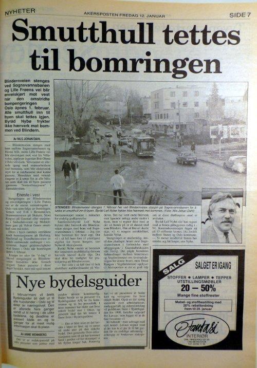 Akersposten 12. januar 1990