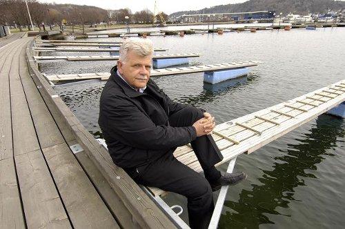 Havnesjef Bjørnar Christensen i småbåthavna
