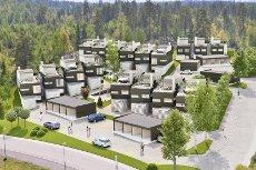 Jessheim - Skogmo - 2 solgt - Nye trendy rekkehus med stor solrik takterrasse og flott utsikt