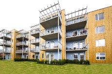 Nannestad Sentrum - Granlund Boligtun - Bygging pågår - allerede 46% solgt! - 24 nye flotte selveierleil. m/heis & balkong. Gode planløsninger.
