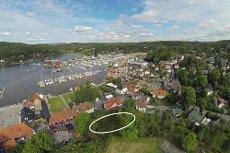 Son- Sjelden flott beliggende tomt i sentrum- Utsikt mot sjøen og innseilingen til Son