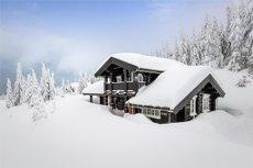 Koselig, laftet hytte med anneks i Natrudstilen Fin utsikt, god solgang og ypperlige skimuligheter!