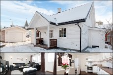 BJØRKELANGEN: Koselig og lys enebolig med garasje - Solrik terrasse - Sentral og barnevennlig beliggenhet!