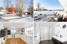 Nannestad/Holter - Flott eiendom i idylliske omgivelser. Oppgradert enebolig - garasje/carport m/boder - isolert anneks.
