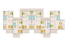Nannestad Sentrum - Granlund Boligtun - Bygging pågår - nå 54 % solgt! - 24 nye flotte selveierleil. m/heis & balkong. Gode planløsninger.