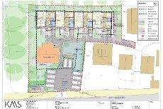 Horten - 8 moderne selveierleiligheter med solrike uteplasser skal bygges ned mot parken