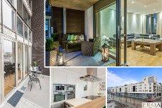 Lillestrøm Syd - Unik og lekker leilighet med terrasse og balkong. Heis og garasjeplass.