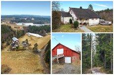 Hærland - Idyllisk beliggende småbruk perfekt for hestehold - Låve med 9 stallbokser - Ca 50 da tomt