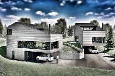 Prosjektert moderne enebolig med svært sentral og populær beliggenhet i ett av Jessheims fineste områder.