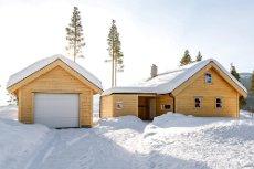 GOLF ALPIN - Nyoppført hytte gode solforhold og flott utsikt. 3 soverom, hems, sportsbod, garasje, etc.