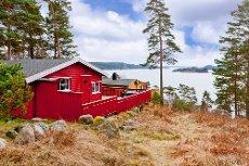 Velholdt hytte med flott utsikt Kvastebyen-Skjeberg