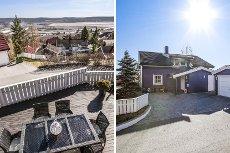 Rælingen/Øgardshøgda - Enebolig m/fantastisk utsikt på toppen av Øgardshøgda. Garasje. 2 store terrasser. Barnevennlig.