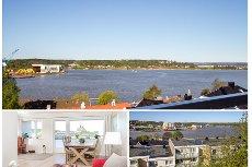 Tønsberg/Sentrum - Flott toppleilighet med god standard. Solrik og vestvendt balkong . Nydelig utsikt. Meget sentralt.