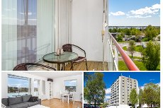Tønsberg/Heimdal - Pen og lys 2-roms endeleilighet i 6.etasje med vestvendt balkong - Flott utsikt - Ingen forkjøpsrett