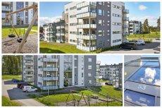 SOLE/Vestby - ny, lekker, påkostet 3-roms leilighet med sydvendt terrasse. Garasje. Heis. Sentralt og naturnært.