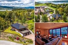 SANDE/SELVIKÅSEN- Mursteinsvilla med fin fjordutsikt 4 soverom, 2 stuer, 2 bad, dobbelgarasje. Store solrike terrasser.